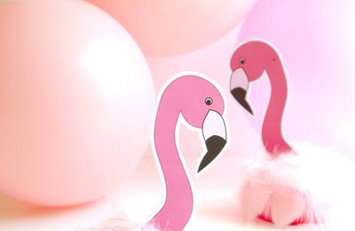 décor flamants roses (tutoriel gratuit - DIY)