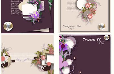 New!!! Pack template vol 35 à 38 by saskia designs