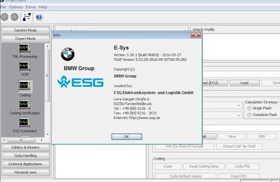 BMW E-SYS 3.28.1 and Psdzdata 3.61.4 Lite Free on Mega