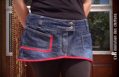 Transformation d'un jean... en jupettes