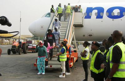 LANDED || 40 Nigerians Deported By Italian Authorities