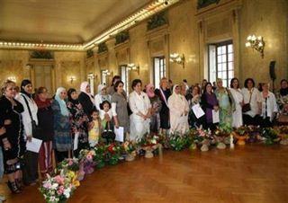 Réception à l'Elysée des mères de famille françaises méritantes (5 à 7 enfants)....
