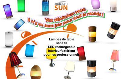 Lampes de table sans fil à LED rechargeable pour les restaurants....