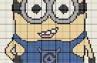 Grille gratuite point de croix : Minion
