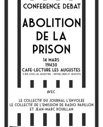 Clermont Ferrand le 14 mars : discussion-débat sur l'abolition de la prison