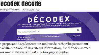 Le Monde à l'épreuve de la méthode de son « Décodex » (Observatoire des néocons)