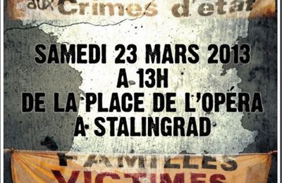 Paris: manifestations contre les violences policières le 23 mars 2013
