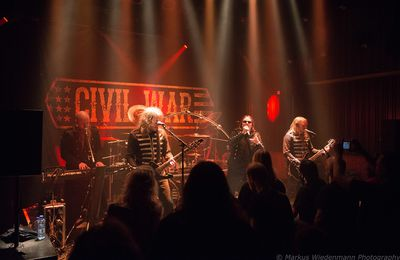 Live report CIVIL WAR / NIGHTMARE / ATHANASIA, Gebr. de Nobel, Leiden, 28.04.2017