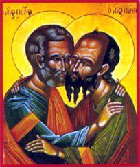 Saints, glorieux et illustres Apôtres PIERRE et PAUL, les Premiers Coryphées 29 JUIN