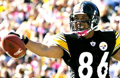 Hines Ward, John Farrior out and about versus Patriots.
