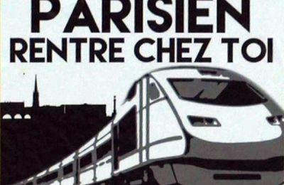 """Affiches """"Parisien rentre chez toi"""" à Bordeaux"""