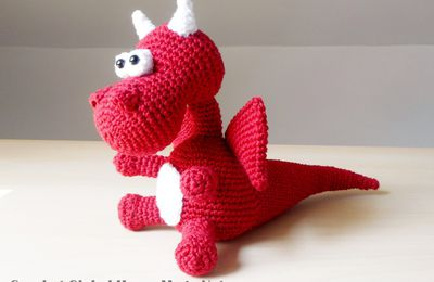 yaki le dragon au crochet (tutoriel gratuit - DIY)