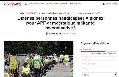 Défense personnes handicapées = APF démocratique militante revendicative ! Par Odile Maurin