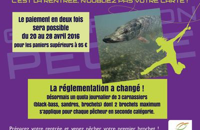 Ouverture carnassier 2016, Attention ! modification de la réglementation