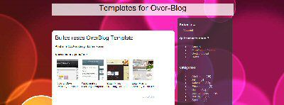 Bulles roses OverBlog Template