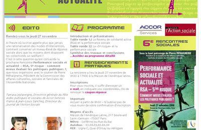 Groupe ACCOR : Performance Sociale