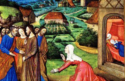 Mc 5, 21-43 La femme souffrante, la fille de Jaïre