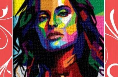 """Dessin et peinture - video 2186 : Un peu de peinture colorée grâce au """"Pop Art""""."""