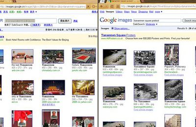 Auto censure de Google image en chine !