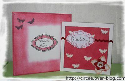 Carte félicitation mariage + enveloppe