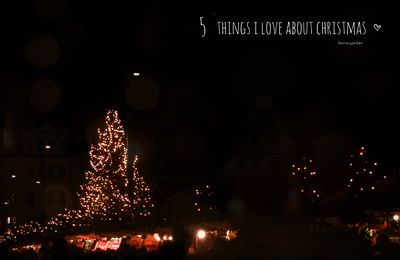 5 things I love about christmas