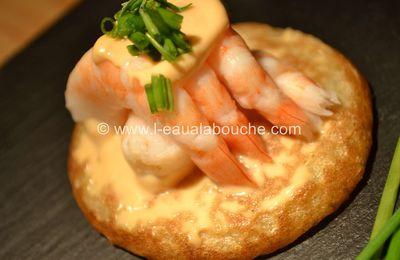 Blinis aux Crevettes & Ciboulette