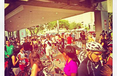 All set for #criticalmass #miami ! Supporting @miamisivota for a democratic #Venezuela #ven !