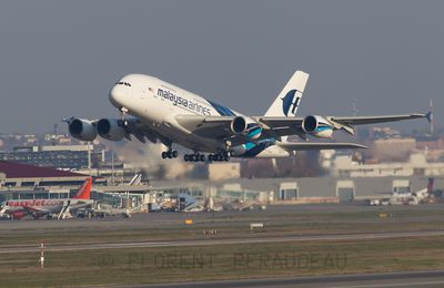delivery flight of 9M-MNE Malaysia Airlines Airbus A380-841 - cn 094