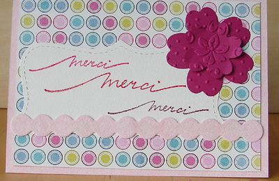carte {merci} rose acidulée
