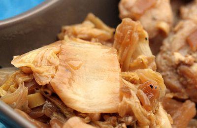 Poulet à la citronnelle, riz gluant et chou chinois sauté : le chou