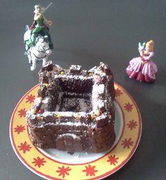Gâteau château fort au chocolat moule Scrapcooking
