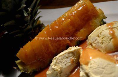 Ananas au Rhum et Caramel au Lait de Coco
