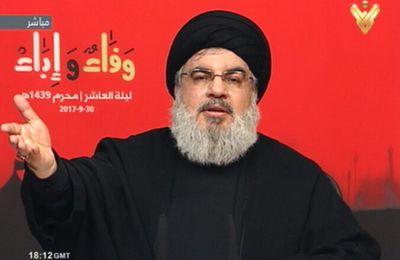 Nasrallah qui ne cesse de pérorer, appelle les juifs à quitter la Palestine; la fin de Daesh est une question de temps