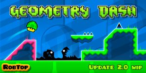 A fantasy world with Geometry Dash