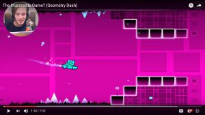 Along PewDiePie play Geometry Dash game