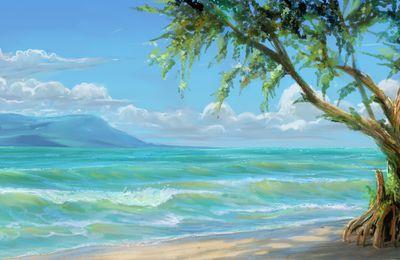live study sur la plage.
