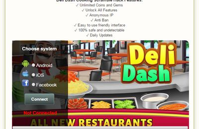 Deli Dash Cooking Scramble Hack Cheats Trainer for Android and iOS