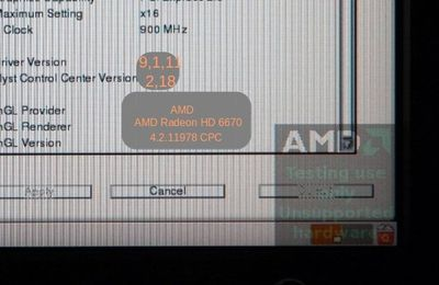 "Comment supprimer le logo ""AMD Testing use only"" sous fedora 19"
