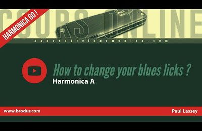 How to change your blues licks ? - Harmonica A - Teaser