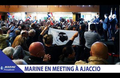 Discours de Marine Le Pen au meeting d'Ajaccio (08/04/2017) I