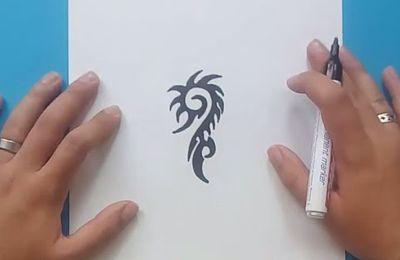 Como dibujar un tribal paso a paso 158