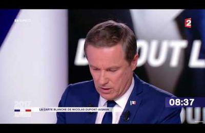 Dupont-Aignan dévoile en direct des SMS du patron du Figaro qui lui aurait demandé de se retirer au profit de François Fillon [Vidéo]