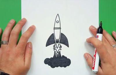Como dibujar un cohete paso a paso 5