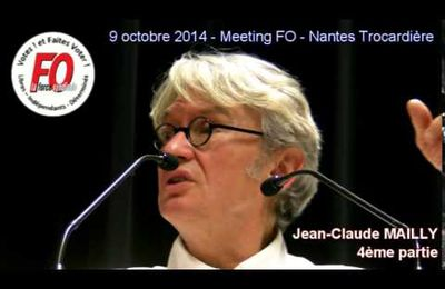 Meeting de Nantes : intervention de jean-claude MAILLY