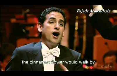 Peruvian Tenor Juan Diego Flórez singing La Flor de la Canela, Director Gustavo Dudamel with the Los Angeles Philharmonic.