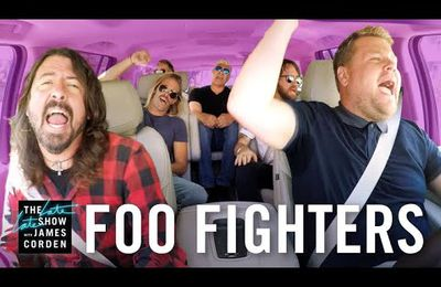 Les Foo Fighters dans l'émission Carpool Karaoke de James Corden