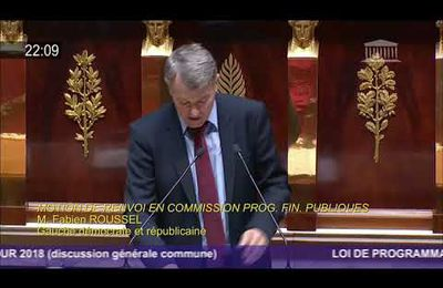 Projet de loi de finances 2018-2022 : intervention de Fabien Roussel à l'Assemblée nationale (19-10-17)