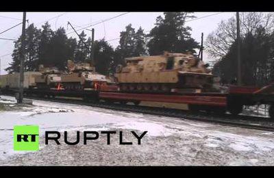 Plusieurs tanks et blindés US aperçus en Lettonie (Russia Today)