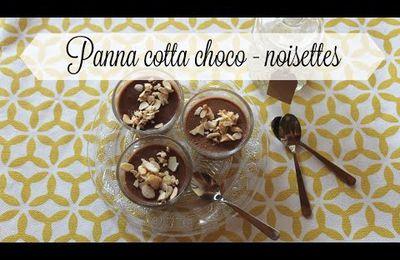 Panna cotta chocolat noisettes