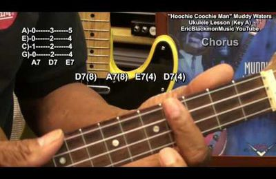 How To Play HOOCHIE COOCHIE MAN Muddy Waters On Ukulele Blues Lesson EricBlackmonGuitar HD